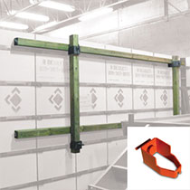 "Wall straightener with 4"" x 8"" (100mm x 200mm) clamp"