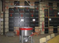New and traditional panels, quick removal beam, concrete bucket, module for concrete block