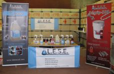 The booth of our exhibitor Lab-Eau-Sol Environnement (cleaning products).