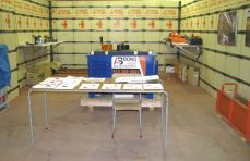 The booth of our exhibitor AS Bond 003, products and advices for steel, armature and frame sectors.
